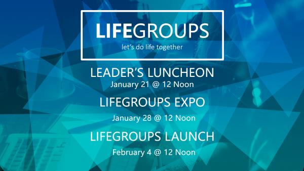 LIFEGROUPS EVENTS